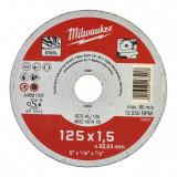 Milwaukee WSCS41 STANDARD fémvágó tárcsa, egyenes, 125x1.5 mm