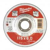 Milwaukee WSG27 STANDARD csiszolókorong fémhez, 115x6.0 mm