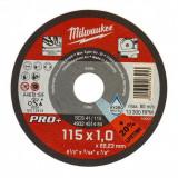 Milwaukee SCS 41/115 PRO+ vékony fémvágó tárcsa, egyenes, 115x1.0 mm