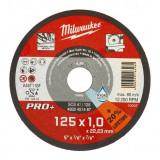 Milwaukee SCS 41/125 PRO+ vékony fémvágó tárcsa, egyenes, 125x1.0 mm, 200db/csomag