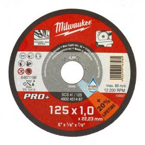 SCS 41/125 PRO+ vékony fémvágó tárcsa, egyenes, 125x1.0 mm, 200db/csomag termék fő termékképe