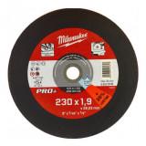 Milwaukee SCS 41/230 PRO+ vékony fémvágó tárcsa, egyenes, 230x1.9 mm