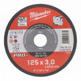 Milwaukee SC 41/125 PRO+ fémvágó tárcsa, egyenes, 125x3.0 mm