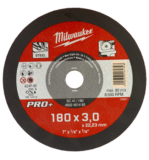 Milwaukee SC 41/180 PRO+ fémvágó tárcsa, egyenes, 180x3.0 mm