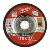 Milwaukee SC 42/115 PRO+ fémvágó tárcsa, hajlított, 115x3.0 mm