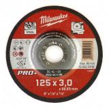 Milwaukee SC 42/125 PRO+ fémvágó tárcsa, hajlított, 125x3.0 mm