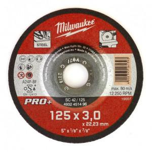 SC 42/125 PRO+ fémvágó tárcsa, hajlított, 125x3.0 mm termék fő termékképe