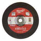 Milwaukee SC 42/230 PRO+ fémvágó tárcsa, hajlított, 230x3.0 mm