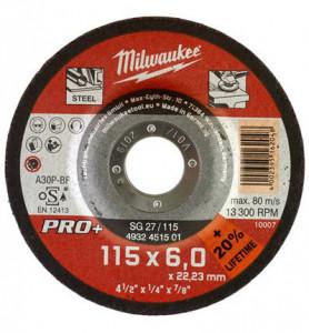 SG 27 / 115 PRO+ csiszolókorong fémhez, hajlított, 115x6.0 mm termék fő termékképe