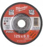 Milwaukee SG 27 / 125 PRO+ csiszolókorong fémhez, hajlított, 125x6.0 mm