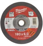 Milwaukee SG 27 / 180 PRO+ csiszolókorong fémhez, hajlított, 180x6.0 mm