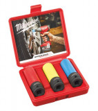 """Milwaukee Shockwave Impact Duty™ 1/2""""-os dugókulcs készlet könnyűfém felnikhez, 3 darabos"""