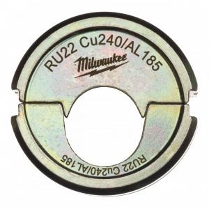 Milwaukee RU22 Cu240/AL185 krimpelő betét az M18 HCCT-hez termék fő termékképe