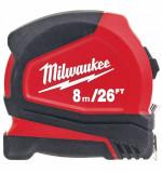 Milwaukee Pro Compact mérőszalag, 8 m / 26 láb / 25 mm