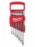 Milwaukee MAX BITE™ racsnis csillag-villáskulcs készlet, colos, 7 darabos