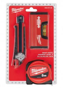 Milwaukee 4932471129 mérőszalag (5 m), kés és vízmérték szett termék fő termékképe