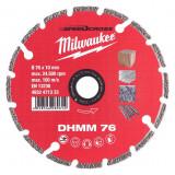 Milwaukee DHMM gyémánt vágótárcsa, Ø76 mm