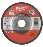 Milwaukee SG 27 / 150 PRO+ csiszolókorong fémhez, hajlított, 150x7.0 mm