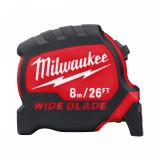 Milwaukee Széles prémium mérőszalag, 8 m  / 26 láb / 33 mm