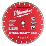 Milwaukee STEELHEAD™ gyémánt vágótárcsa, Ø350 mm