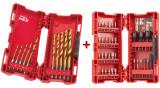Milwaukee Shockwave™ HSS-G titán-nitrid RED HEX fém fúrószár készlet, 10 darabos + Shockwave Impact Duty™ bit- és dugókulcs készlet, 33 darabos
