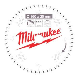 Milwaukee CSB P Alu körfűrészlap 160/20/52TF termék fő termékképe