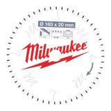 Milwaukee CSB P Alu körfűrészlap 165/20/52TF