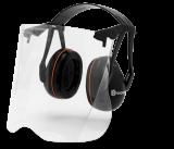 Husqvarna Gardener hallásvédő Perspex arcvédővel