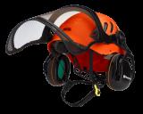 Husqvarna Technical alpin favágó sisak, fluoreszkáló narancssárga