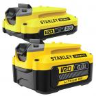 Stanley akkumulátorok, töltők és töltőtartozékok