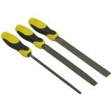 Stanley 0-22-477 3 részes ráspoly készlet (lapos, kerek, félkerek), 200 mm, normál