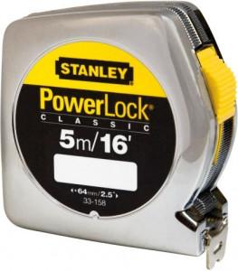 Stanley 0-33-158 POWERLOCK fémházas mérőszalag, 5 m termék fő termékképe