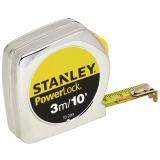 Stanley 0-33-203 POWERLOCK® ABS műanyagházas mérőszalag, 3 m / 10 ft