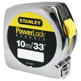 Stanley 0-33-443 POWERLOCK® ABS műanyagházas mérőszalag, 10 m / 33 ft