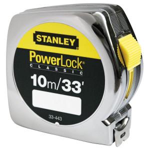 Stanley 0-33-443 POWERLOCK® ABS műanyagházas mérőszalag, 10 m / 33 ft termék fő termékképe
