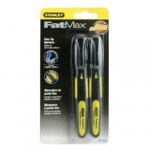 Stanley 0-47-312 FATMAX® vékony hegyű jelölő filc, fekete, 2db/csomag (bliszteres) termék fő termékképe