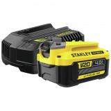 Stanley SFMCB14M1 FATMAX® V20 18 V akkumulátor és töltő csomag (1 x 4.0 Ah Li-ion akkuval)