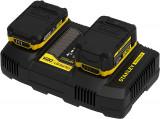 Stanley SFMCB24 FATMAX® V20 18 V 4 A kétportos akkumulátor töltő (gyorstöltő)