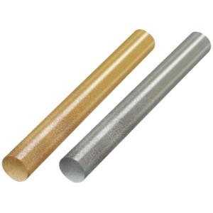 STHT1-70437 alacsony olvadóhőmérsékletű arany- és ezüstszínű ragasztópatron, 11.3 mm x 100 mm, 12 db/csomag termék fő termékképe