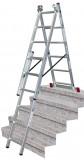 Krause 033369 Corda sokcélú létra lépcsőfunkcióval 3x6 fokos (9kg,1,70m)