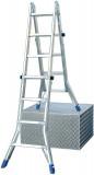 Krause 123565 Stabilo 4X4 fokos teleszkópos csuklós létra /15,5kg;1,35m/ új cikksz: 133953