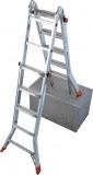 Krause 129963 Monto TeleMatic 4X5 fokos teleszkópos csuklós létra /17,7kg;1,60m/