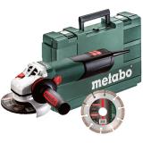 METABO W 9-125 QUICK sarokcsiszoló (műanyag hordtáskában) + 1 db darabolótárcsa