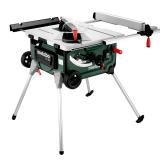 METABO TS 254 asztali körfűrész tartóállvánnyal és mobil funkcióval