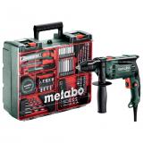 METABO SBE 650 ütvefúró (műanyag hordtáskában) + mobil műhely