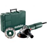 METABO W 750-125 SET sarokcsiszoló készlet (műanyag hordtáskában)