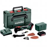 METABO MT 18 LTX BL QSL szénkefe nélküli akkumulátoros multiszerszám (2 x 2.0 Ah Li-Power akkuval, metaBOX kofferben)