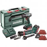 METABO COMBO SET 2.6.1 18 V akkus gépcsomag (2 x 2.0 Ah Li-Power akkuval, metaBOX kofferben)