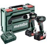 METABO COMBO SET 2.1.18 18 V BL szénkefe nélküli akkumulátoros gépcsomag (2 x 5.2 Ah Li-ion akkuval, metaBOX kofferben)