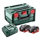 METABO 18 V-os akku csomag (2 x 10.0 Ah LiHD akku, töltő, MetaBox kofferben)
